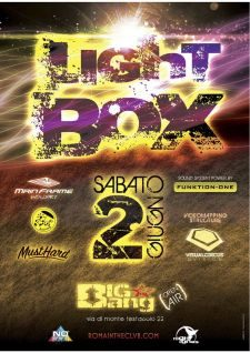2 GIUGNO MAINFRAME + MUSTHARD + RAINDOG present: LIGHT BOX @ BIG BANG